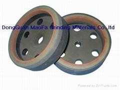 Three-band resin wheel