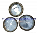 Diamond grinding wheels for glass