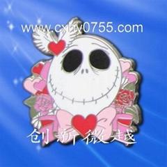 human skeleton lapel pins