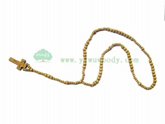 stock wooden beads rosary necklace for cheap sell