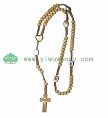 fashion rosary necklace made of wooden beads MY-d0014