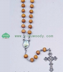 fashion rosary necklace made of wooden beads MY-d0013