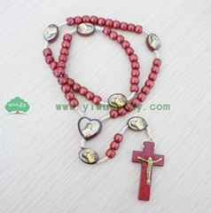 rosary beads made of wooden beads MY-d0012