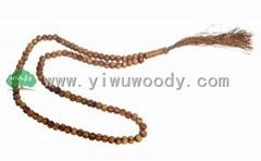 islamic rosary necklace made of pine wood beads