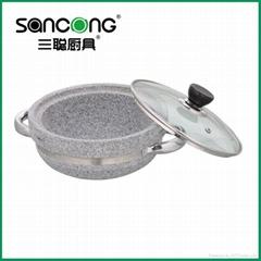 2011shallow stone pot