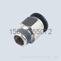 批發上海pc螺紋直通氣動接頭 1