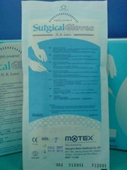 Lightly-powdered Latex Surgical gloves