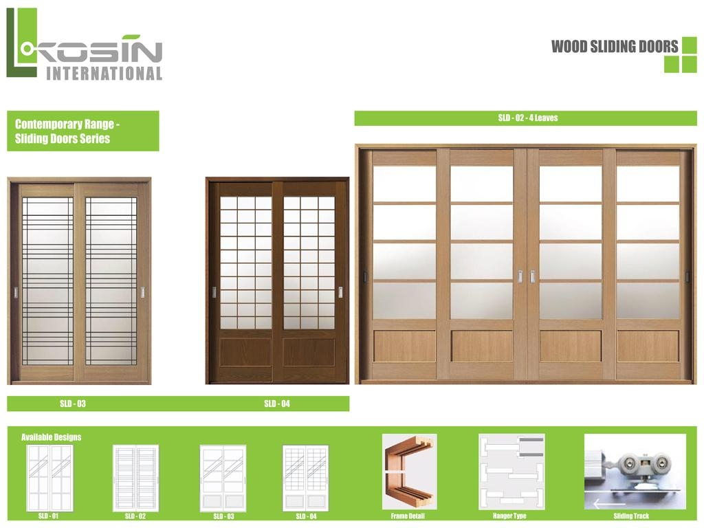 Wood sliding doors -  Kosin Wood Sliding Door Series 1