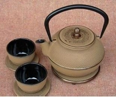 Health technology cast iron teapot set 1.2L