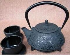 Healthy technology cast iron teapot set 0.8L