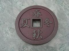 Japanese style casting iron teapot cushion