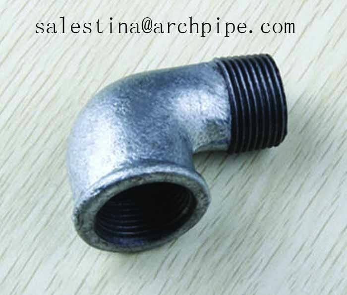 Galvanized malleable cast iron pipe fittings