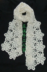 廠家直銷韓款時尚手工編織圍巾