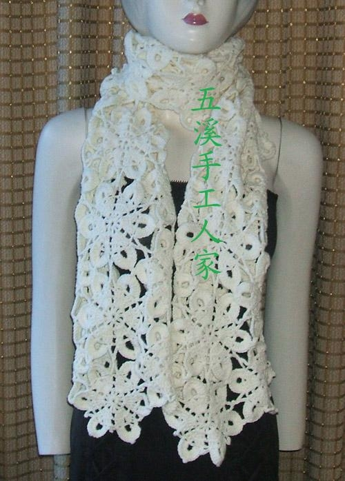 厂家直销韩款时尚手工编织围巾 2