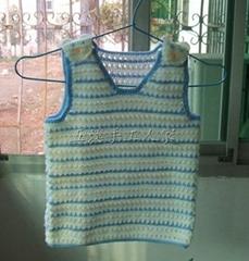 廠家直銷 自主設計 純手工編織寶寶可愛背心