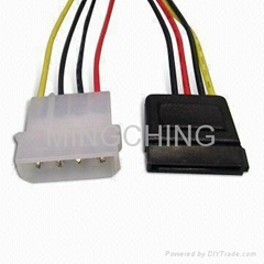 SATA 15P to SATA 4Pin power cable