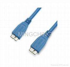 USB3.0连接线,Micro A公对Micro B公