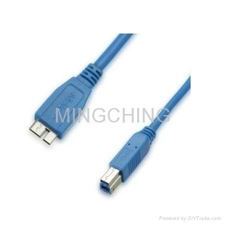 USB3.0連接線,MicroA公對B公 1