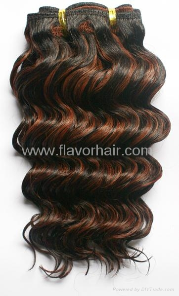 DEEP Weaves,100% Human hair extensions 1