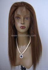 "Full Lace Wigs 16"" 4# Yaki"