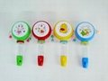 Plastic whistle Candy toy wave drum