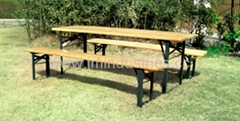 Wooden Garden Beer Table and Bench set