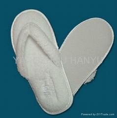 cotton velour hotel slipper/guest room slipper/hotel bathroom slipper/