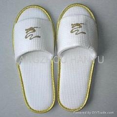 indoor bedroom open toe polycotton velour slippers