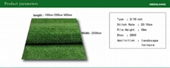 Quality Brand-Name Artificial Grass for Lawns, Landscaping and Parks (With thatc
