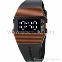 Digital design LED digital watch