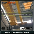 European type bridge crane with low headroom wire rope hoist