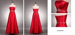 A-line Strapless Evening Dress