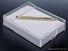 泉州亚克力便签盒厂家直销批发价办公室用便签盒
