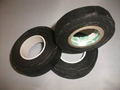 Black color rubber adhesive fabric tape