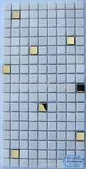 Natural Stones Mixed Stainless Steel Mosaic Tile