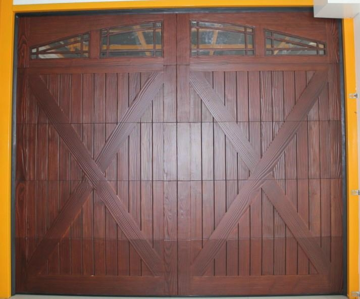 Wooden garage door boda china manufacturer garage for Wood door manufacturers