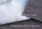 Cotton warp knitted denim fabric