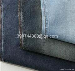 Combed linen denim fabric