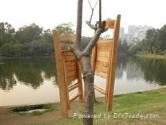外贸实质木折叠椅广东佛山家具批发 1