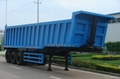 rear tipping semi-trailer