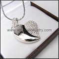 Fashion Heart shaped metal USB driver jewelry