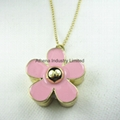 Novelty fashion Daisy flower solid perfume container/necklace pendant jewelry