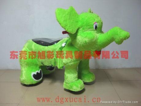 精緻小飛象毛絨玩具電動車! 1