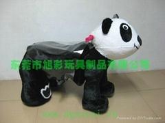 玩具電動車大頭熊貓