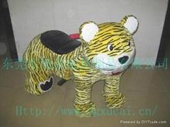動物款式的毛絨玩具電動車!