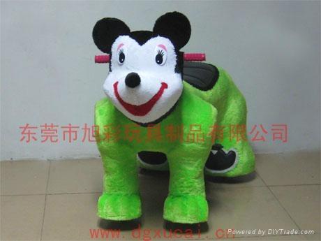 遥控型儿童电动毛绒玩具车! 3
