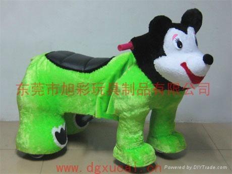 遥控型儿童电动毛绒玩具车! 4