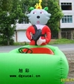 充氣電瓶車各種可愛氣模的玩具!