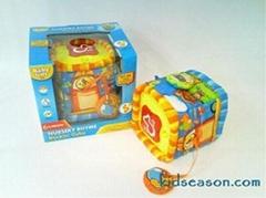 嬰儿布絨電動童謠音樂鈴方塊玩具
