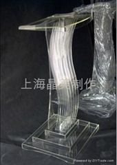 透明有机玻璃演讲台